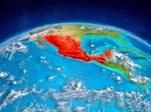 Le Mexique sur terre Photo libre de droits