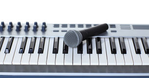 Le microphone Image stock
