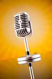 Le microphone de musique, musique a saturé le concept photo stock
