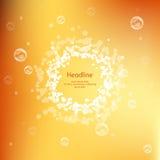 Le miel colore le fond juteux pour la présentation Image stock
