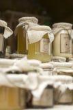 Le miel de l'abeille photographie stock libre de droits