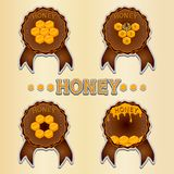 Le miel jaune Photos libres de droits