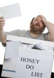 Le miel mentionnent Photo libre de droits