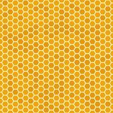 Le miel sans couture orange peigne le modèle Texture de nid d'abeilles, fond mielleux hexagonal de vecteur de peigne illustration libre de droits