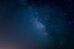 Le milkyway dans une nuit parfaite Images libres de droits
