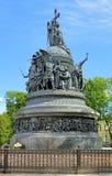 Le millénaire du monument de la Russie dans le Novgorod Kremlin Photos stock
