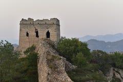 Le Ming la Grande Muraille dans Laiyuan Images stock