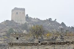 Le Ming la Grande Muraille dans Laiyuan Photo libre de droits
