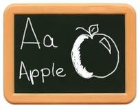 Le mini tableau de l'enfant - A est pour Apple Photos stock