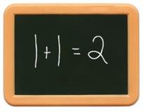 Le mini tableau de l'enfant - maths Photos stock