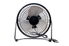 Le mini ventilateur noir Photo libre de droits