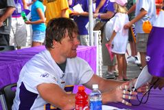 Le Minnesota Viking Jeff Dugan Image libre de droits