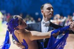 Le Minsk-Belarus, le 19 octobre 2014 : Couples non identifiés Perfo de danse Photo libre de droits