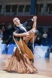 Le Minsk-Belarus, le 19 octobre 2014 : Couples non identifiés Perfo de danse Images stock