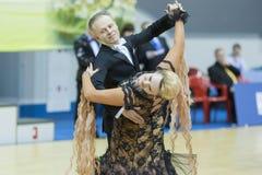Le Minsk-Belarus, mars, 16 : Yaroshevich Andrey – Kovaleva Svetla Image libre de droits