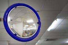 Le miroir de courbe du trafic Images stock