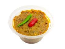 Le miscele tailandesi della pasta del prik o del peperoncino rosso del nam di cucina con il pesce fermentano Immagine Stock Libera da Diritti