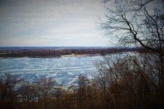 Le Mississippi glacial photo libre de droits
