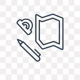 Le misure progettano l'icona di vettore isolata su fondo trasparente, Li royalty illustrazione gratis