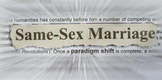 Le même mariage de sexe Photo stock