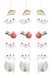 Le mobile des beaucoup coquillage, plan rapproché a tiré de coloré et de divers Photographie stock