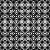 Le modèle abstrait d'un noir se tient le premier rôle et les formes géométriques blanches Photographie stock libre de droits