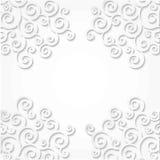 Le modèle accule des boucles faites de papier Fond blanc Effet du cadre 3D de rouleau Images stock