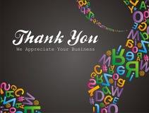 Le modèle d'Alfabet vous remercient nous apreciate vos affaires Images libres de droits