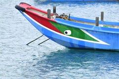 Le modèle d'oeil a décoré le sampan. Images stock