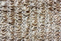 Le modèle de brut tricotent le tissu beige photographie stock