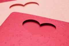 Le modèle de carte de voeux du coeur pour la valentine et beau Photo stock