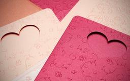 Le modèle de carte de voeux du coeur pour la valentine et beau Photos stock