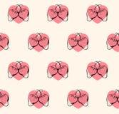 Le modèle de fraise avec chauffe la couleur en pastel illustration libre de droits