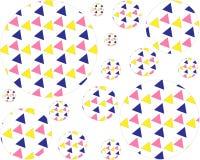 Le modèle de grandes et petites boules à l'intérieur des triangles colorées illustration de vecteur