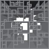 Le modèle de grille gris strict a expulsé dans 3D vu de l'avant illustration de vecteur