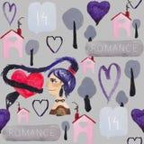 Le modèle de jour du ` s de Valentine Photos libres de droits