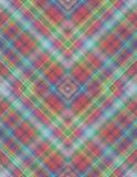 Le modèle de Motley rassemblé de l'intersection a coloré des losanges Images stock