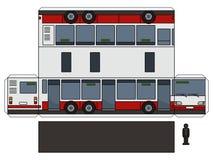 Le modèle de papier d'un long autobus de ville illustration libre de droits