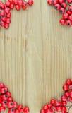 Le modèle de texture de fond de la sorbe rouge porte des fruits cadre (le Sorbus) Image libre de droits