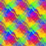 Le modèle de vague multicolore abstrait, fond onduleux coloré de texture, arc-en-ciel a coloré l'illustration sans couture Image stock