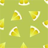 Le modèle des citrons sur un fond vert Image stock