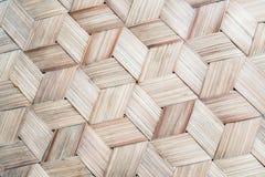 Le modèle du bambou thaïlandais de style handcraft le fond photo stock