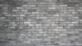 Le modèle du vieux beau mur de briques gris-clair et de la texture images stock