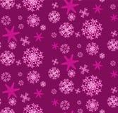 Le modèle est sans couture ` s du beau, de Noël, découpé, nouvelle d'année, des flocons de neige roses et pourpres uniques de fêt Image libre de droits