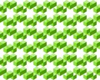 Le modèle géométrique abstrait de couleurs vertes d'isolement sur le fond blanc, disposé en étoile forme l'illustration de vecteu illustration stock