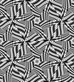 Le modèle géométrique monochrome sans couture créent l'illusion de la profondeur et du volume Illustration Stock