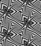 Le modèle géométrique polygonal monochrome sans couture diminuant vers le centre créent l'illusion de la profondeur et du volume Illustration de Vecteur