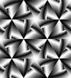 Le modèle géométrique polygonal monochrome sans couture miroitant doucement de la lumière aux tons foncés créent l'illusion de la Photographie stock