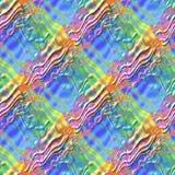 Le modèle multicolore abstrait de surface de vague, fond onduleux de texture de soulagement coloré, arc-en-ciel a coloré l'illust Images stock