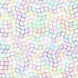 Le modèle onduleux multicolore abstrait de tuile, vague colorée a couvert de tuiles le fond de texture, illustration sans couture Image libre de droits